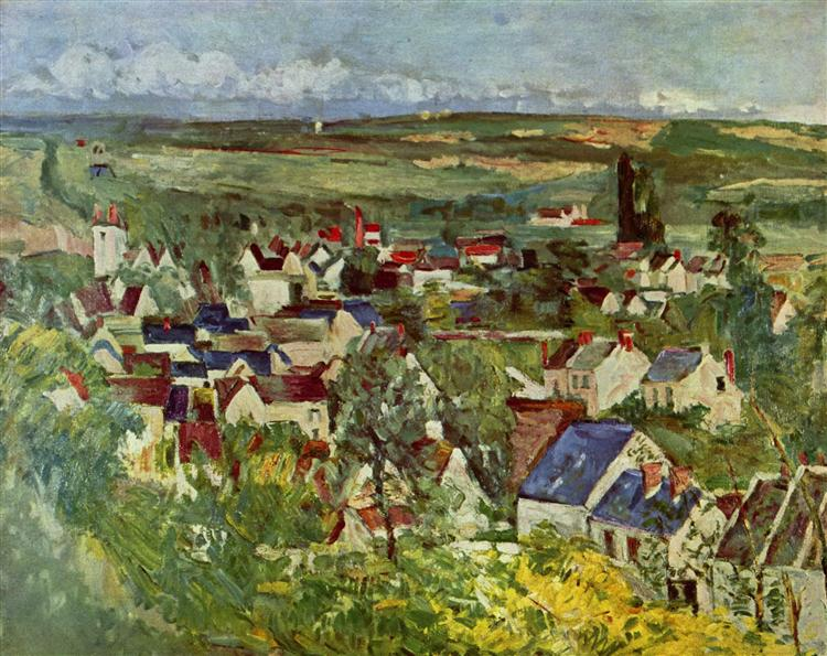 View of Auvers, 1873 - Paul Cezanne