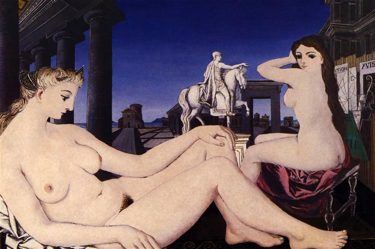 A naked statue, 1946 - Paul Delvaux