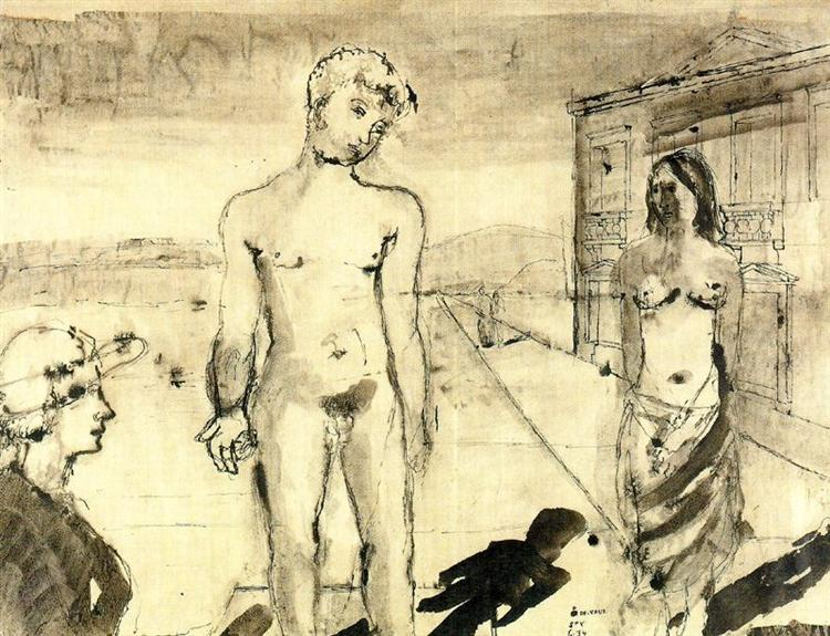 The Meeting - Paul Delvaux