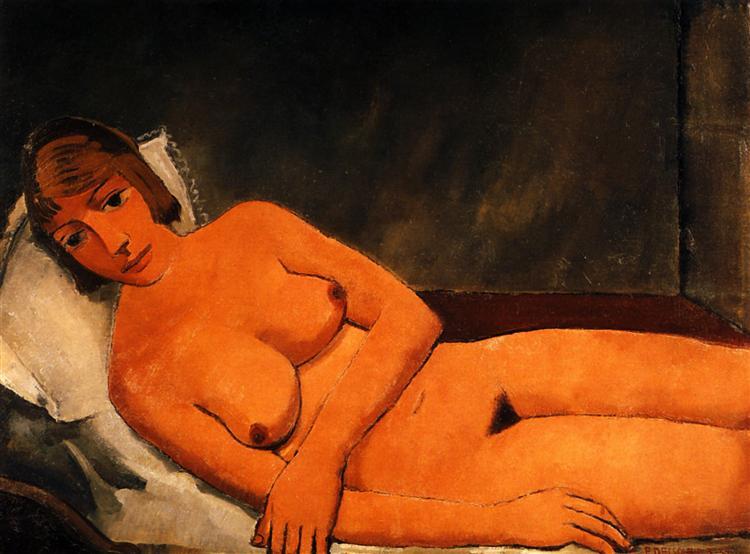 Лежащая обнаженная, 1934 - Поль Дельво