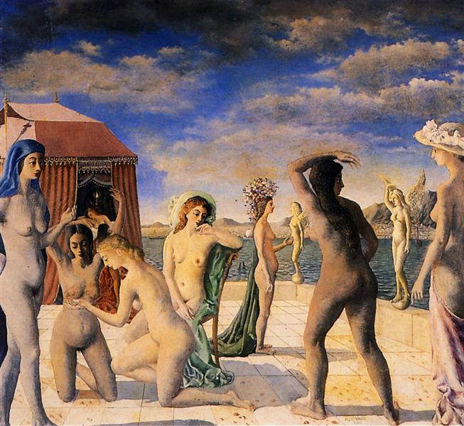 The Courtesans, 1943 - Paul Delvaux
