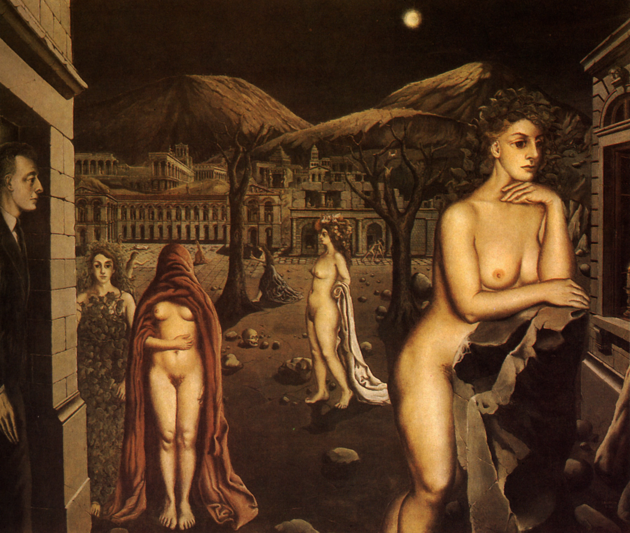 Paul Delvaux Gallery The Sleepy Town Paul Delvaux