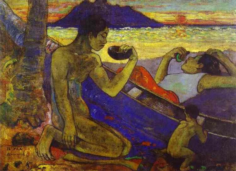 A Canoe (Tahitian Family),, 1896 - Paul Gauguin