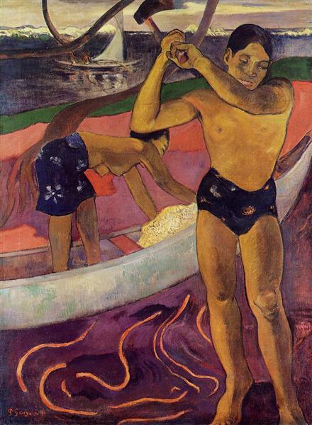 A man with axe, 1891 - Paul Gauguin