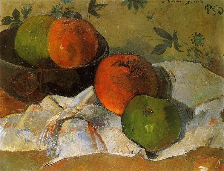 Apples in bowl, 1888 - Paul Gauguin