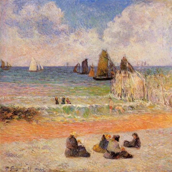Bathing, Dieppe, 1885 - Paul Gauguin
