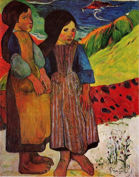 Breton Girls by the sea, 1889 - Paul Gauguin