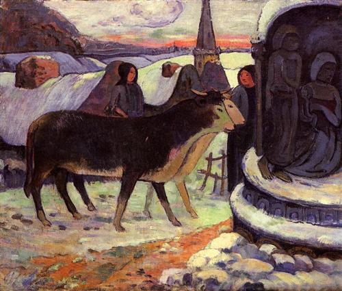 Buon Natale a tutti - Paul Gauguin, Christmas night (1894) dans immagini sacre christmas-night-1894.jpg!Blog