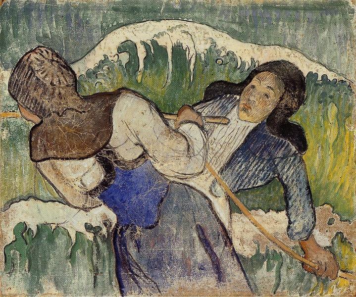 Kelp gatherers, 1890 - Paul Gauguin