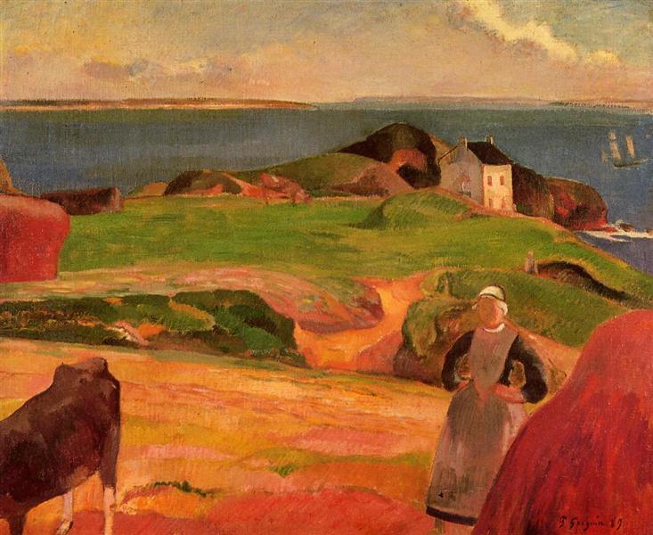 Landscape at Le Pouldu, the isolated house, 1889 - Paul Gauguin