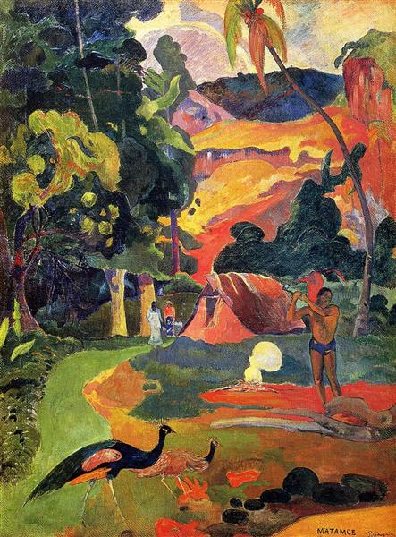 Landscape with peacocks, 1892 - Paul Gauguin