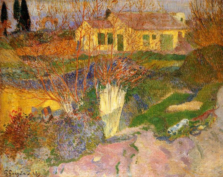 Mas, near Arles, 1888 - Paul Gauguin