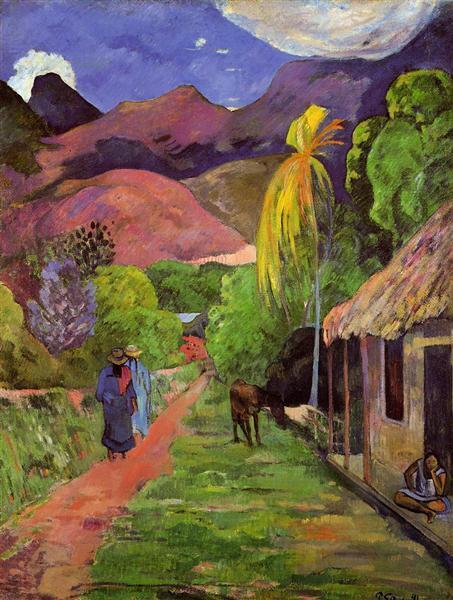 Road in Tahiti, 1891 - Paul Gauguin