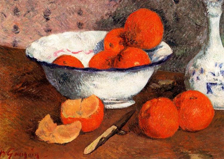 Still life with Oranges, 1881 - Paul Gauguin