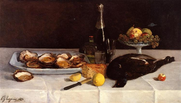 Still life with oysters, 1876 - Paul Gauguin