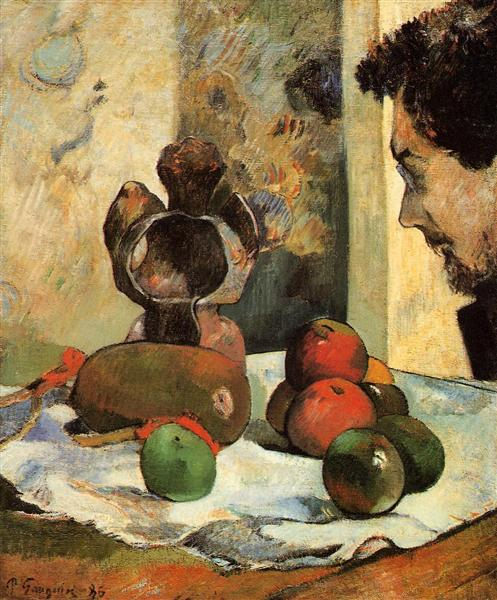 Still Life with Profile of Laval, 1886 - Paul Gauguin
