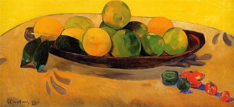 Still life with Tahitian oranges, 1892 - Paul Gauguin