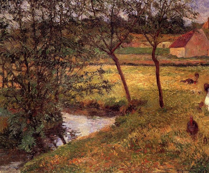 Stream in Osny, 1883 - Paul Gauguin