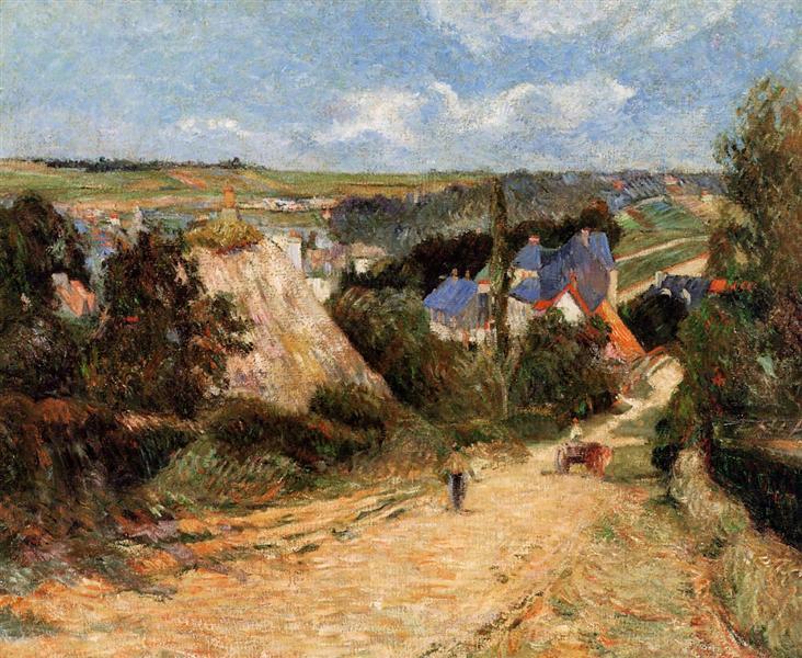 Street in Osny, 1883 - Paul Gauguin