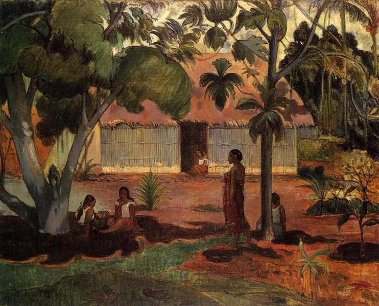 The large tree, 1891 - Paul Gauguin