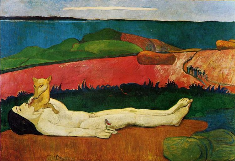 The loss of virginity (Awakening of spring), 1891 - Paul Gauguin
