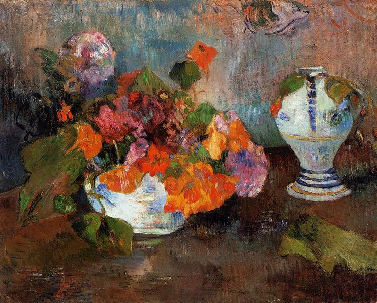 The vase of nasturtiums, 1886 - Paul Gauguin