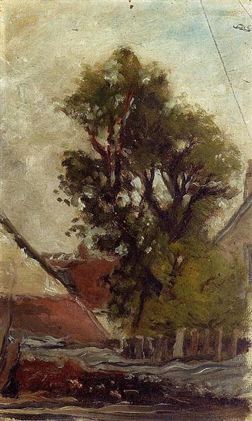 Tree in the farm yard, 1874 - Paul Gauguin