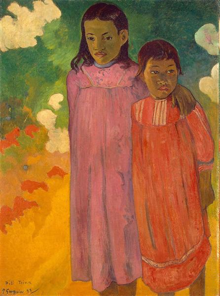 Two sisters, 1892 - Paul Gauguin
