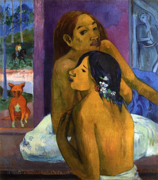 Two women (Flowered hair), 1902 - Paul Gauguin
