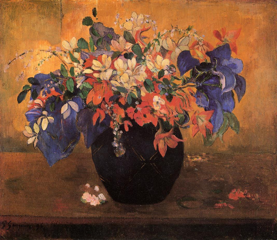 Vase Of Flowers 1896 Paul Gauguin Wikiart Org