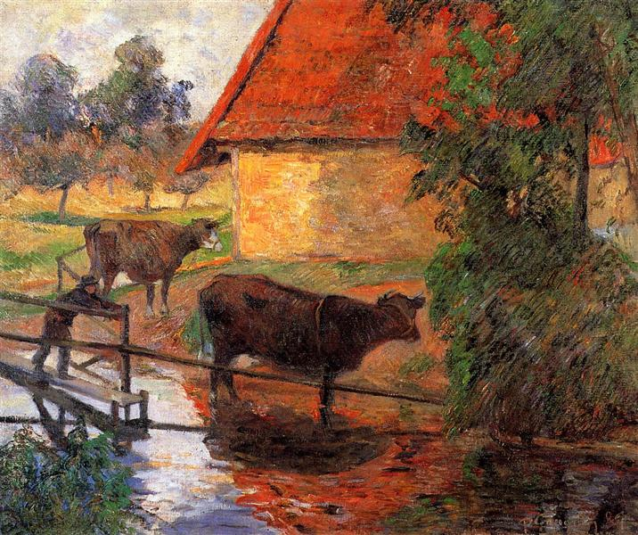 Watering place, 1885 - Paul Gauguin