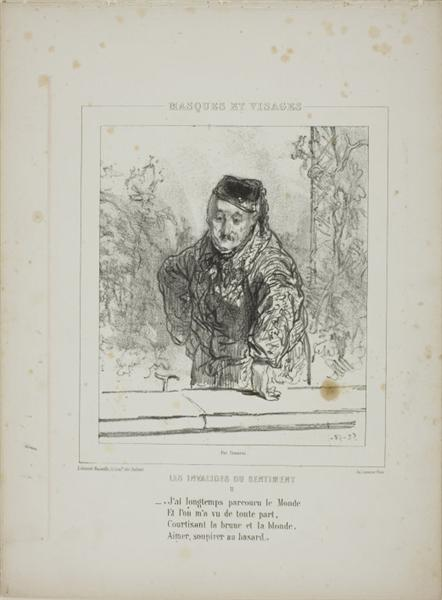 Les Invalides du Sentiment: J'ai longtemps parcouru le Monde..., 1852 - Paul Gavarni