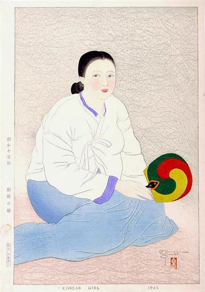 A Corean Girl, 1935 - Поль Жакуле