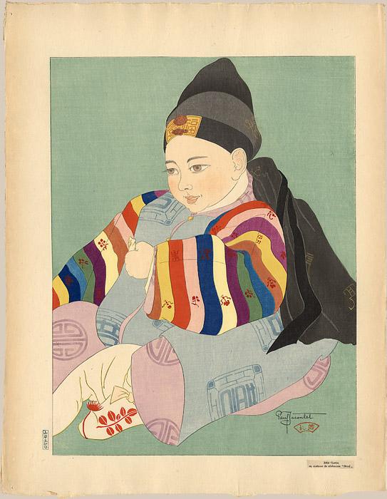 Bebe Coreen En Costume De Ceremonie. Seoul, 1934
