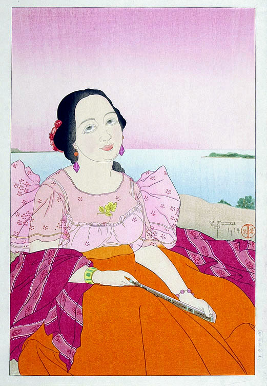 Portrait of a Chamorro Woman - Red, 1934