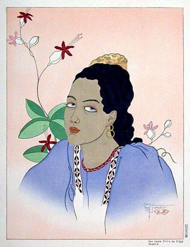 Une Jeune Fille De Fidji. Oceanie, 1935