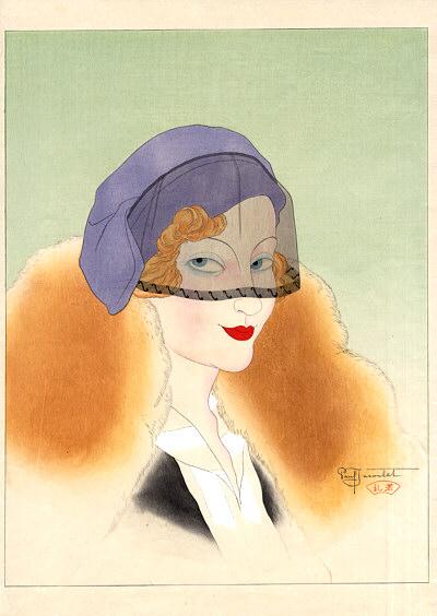 Une Parisienne, 1934 - Paul Jacoulet