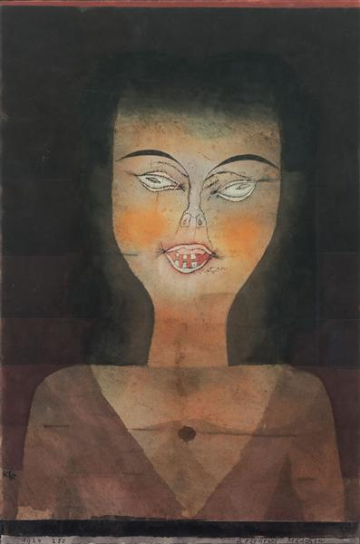 Possessed girl, 1924 - Пауль Клее