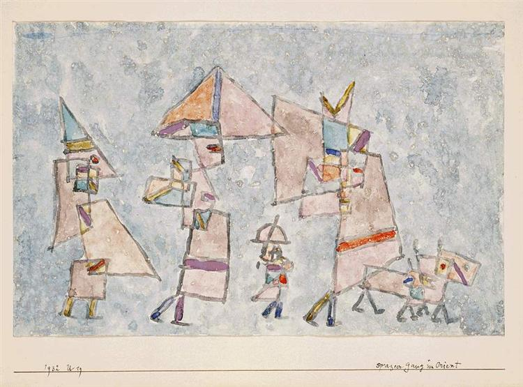 Promenade in the Orient, 1932 - Paul Klee