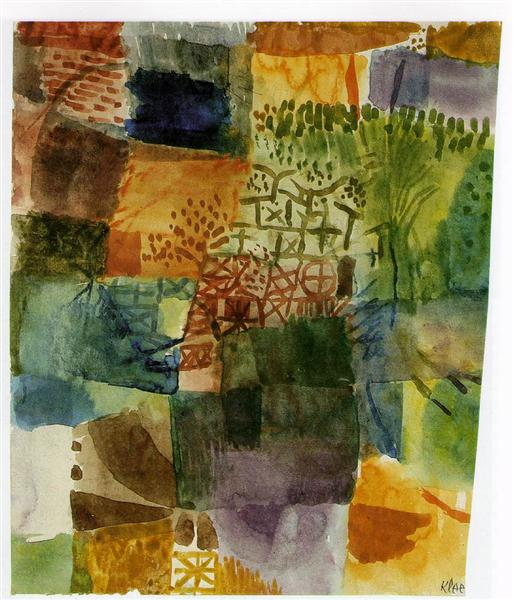 Remembrance of a Garden - Paul Klee