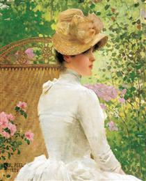 Lady in the Garden - Paul Peel