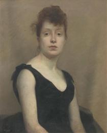 Portrait of a girl - Paul Peel