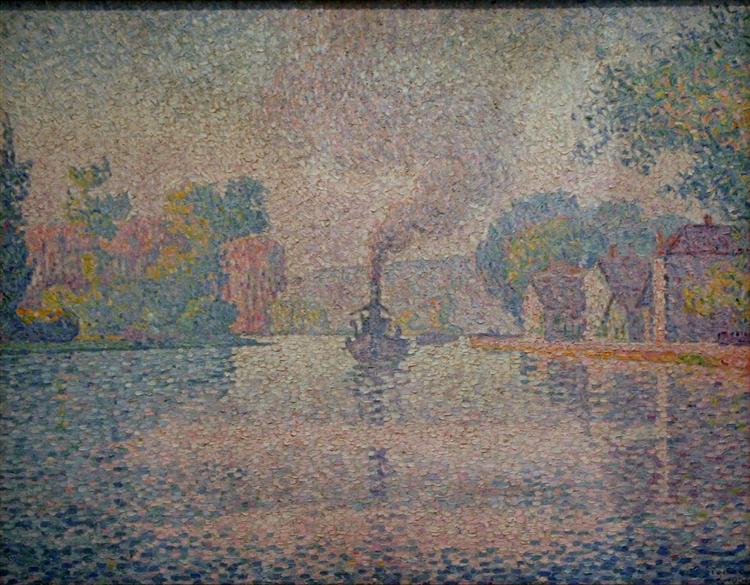 L'Hirondelle Steamer on the Seine, 1901 - Paul Signac