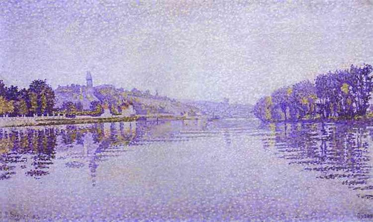 River's Edge The Siene at Herblay, 1889 - Paul Signac