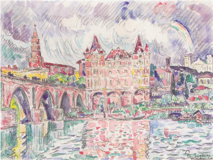 The Look at Montauban in rain, c.1922 - Paul Signac