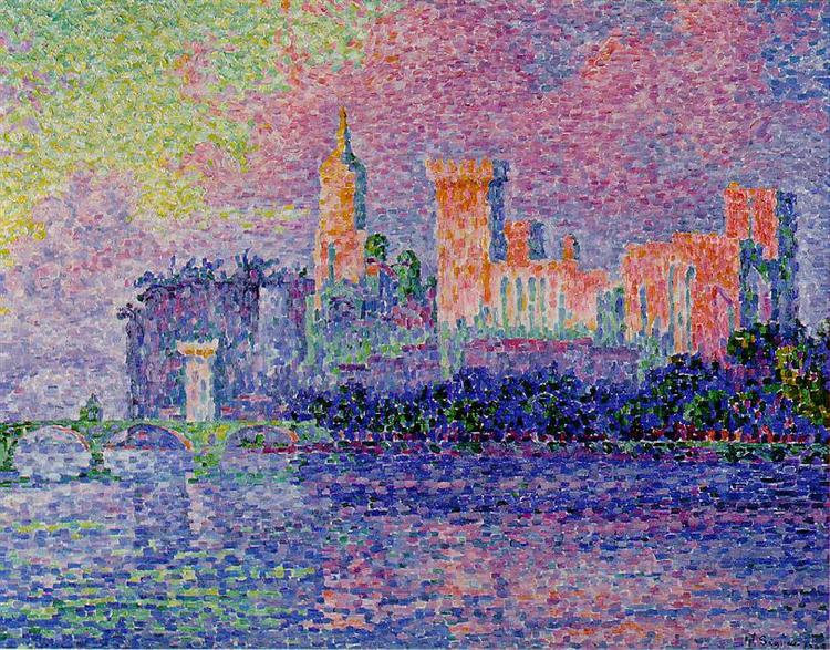 The Papal Palace, Avignon, 1900 - Paul Signac
