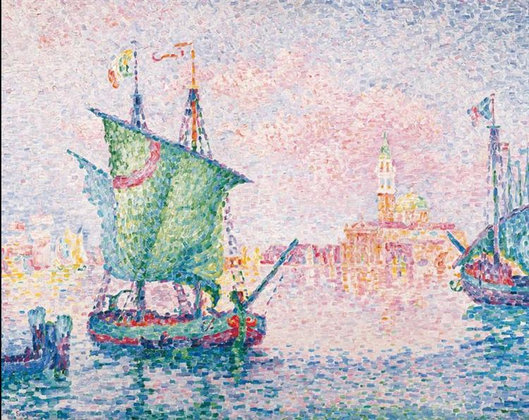 Venice, The Pink Cloud, 1909 - Поль Синьяк