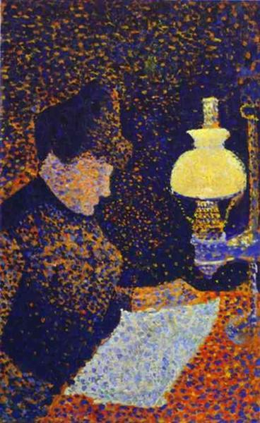 Woman by a lamp, 1890 - Paul Signac