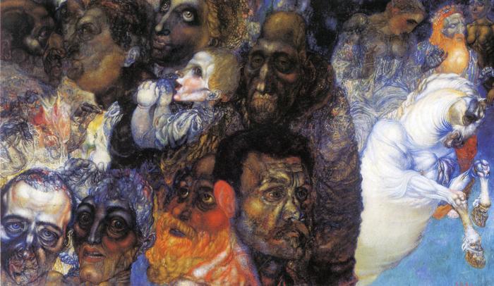 Heads, 1910 - Pavel Filonov