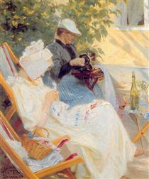 Marie and Her Mother in the Garden - Peder Severin Krøyer